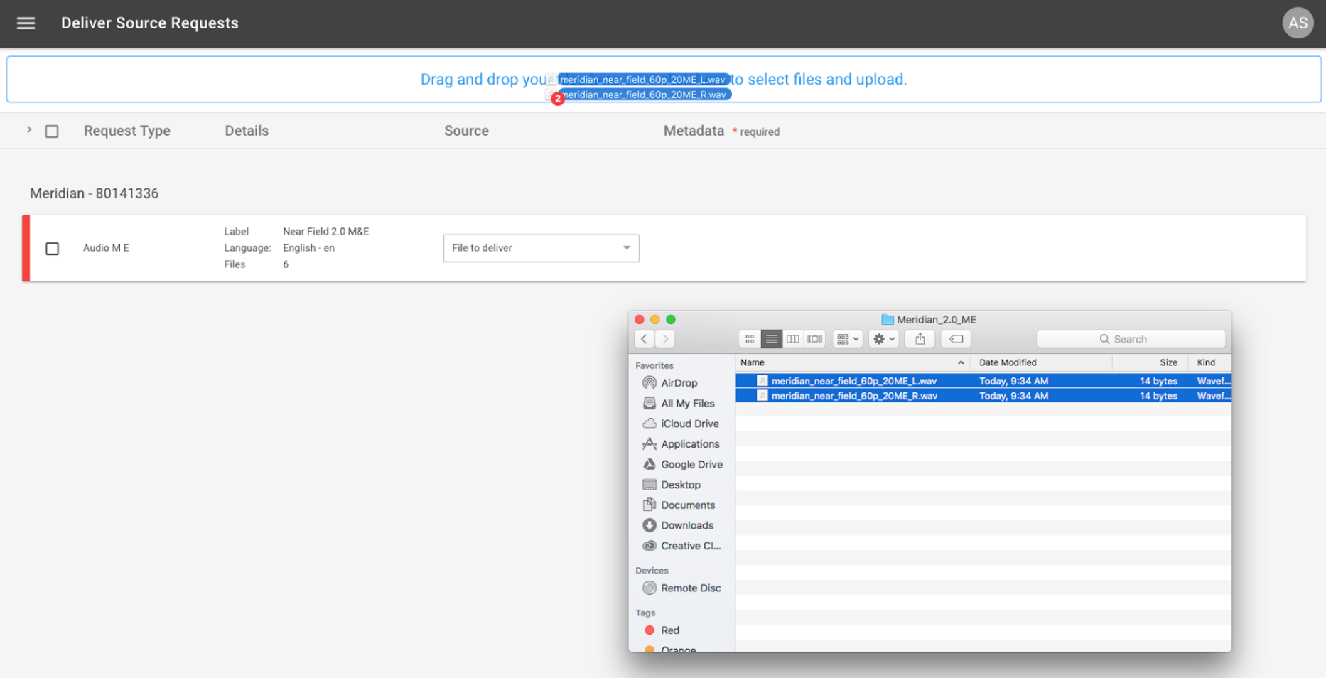 6 Drag And Drop The Files To Upload Onto The Dropzone At The Top Of The  Page